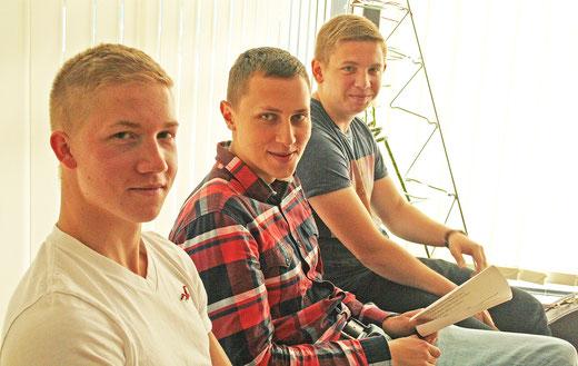 Schüler vor dem Gespräch