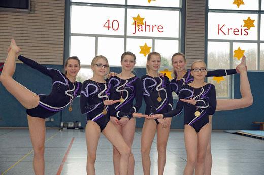v. l.: Zoé Boettcher, Sarah Hartmann, Tabea Kranz, Amelie Attendorn, Tamina Kaiser und Milena Thiele