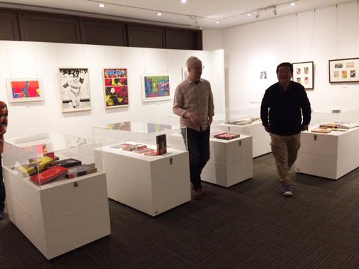 ホール・オブ・フェイムの杉浦非水さん、横尾忠則さんの展示。