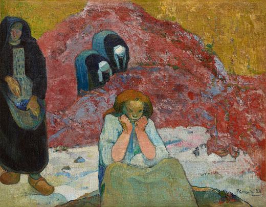 ポール・ゴーギャン「ぶどうの収穫、人間の悲劇」(1888年)