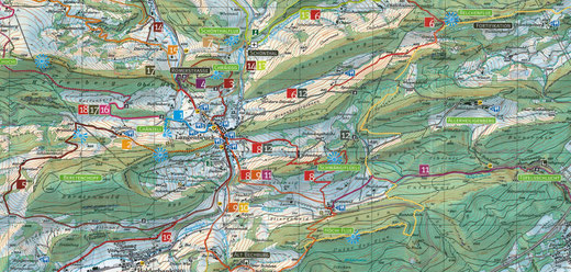 Wanderkarte Region Belchenfluh