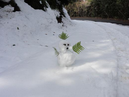 雪だるま監督が消えていました。・・