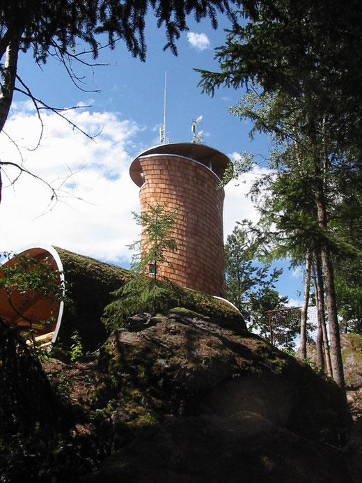Das neue Wanderziel in Lasberg: Die Aussichtsplattform am Hoh Haus