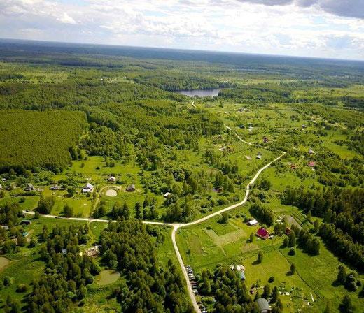 """Die Familienlandsitz-Siedlung """"Rodnoe"""" in der Region Vladimir"""
