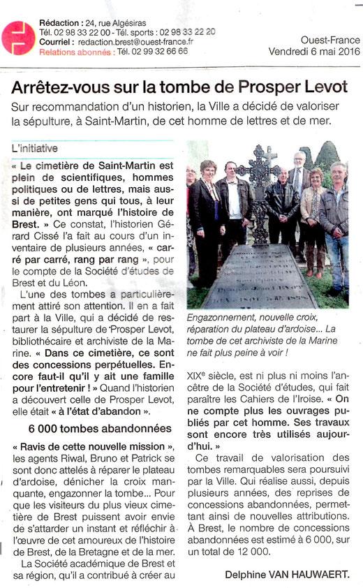 Ouest-France, 6 mai 2016