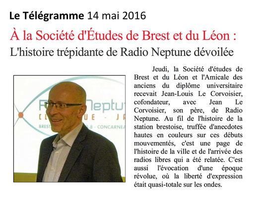 Le Télégramme, 14 mai 2016