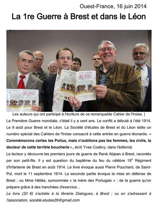 Ouest-France, 16 juin 2014