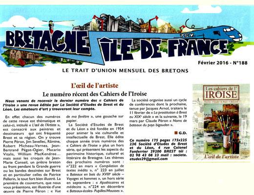 Bretagne - Île de France n° 188, février 2016