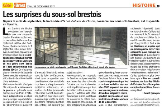 Côté Brest, du 13 au 19 décembre 2017