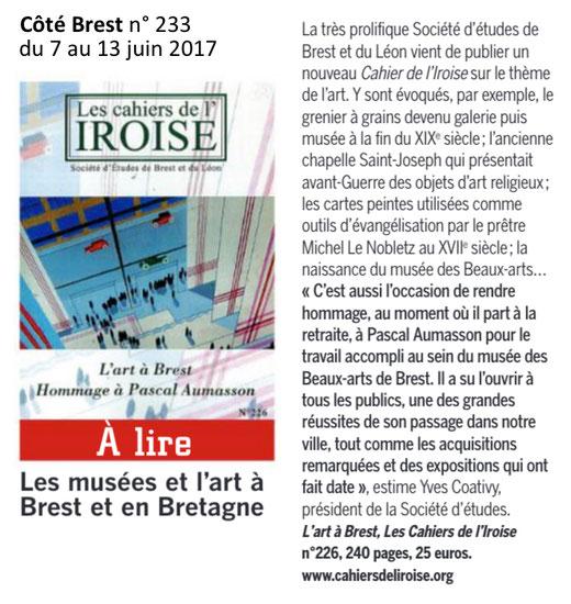Côté Brest n° 233, du 7 au 13 juin 2017