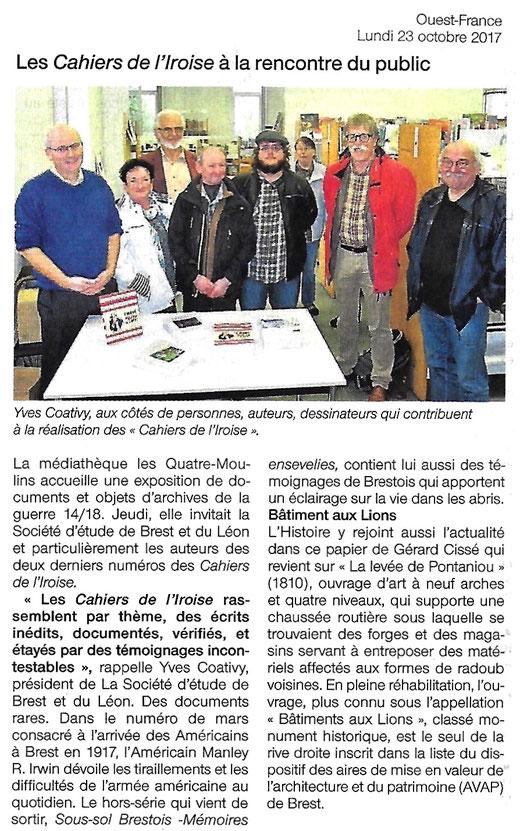 Ouest-France, 23 octobre 2017