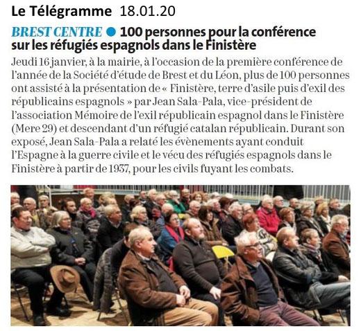 Le Télégramme, samedi 18 janvier 2020