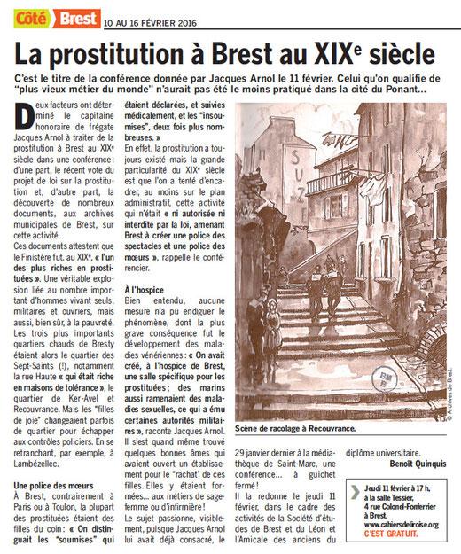 Côté Brest, du 10 au 16 février 2016
