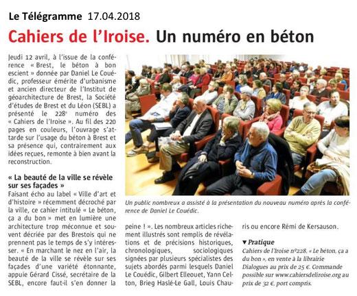Le Télégramme, 17 avril 2018