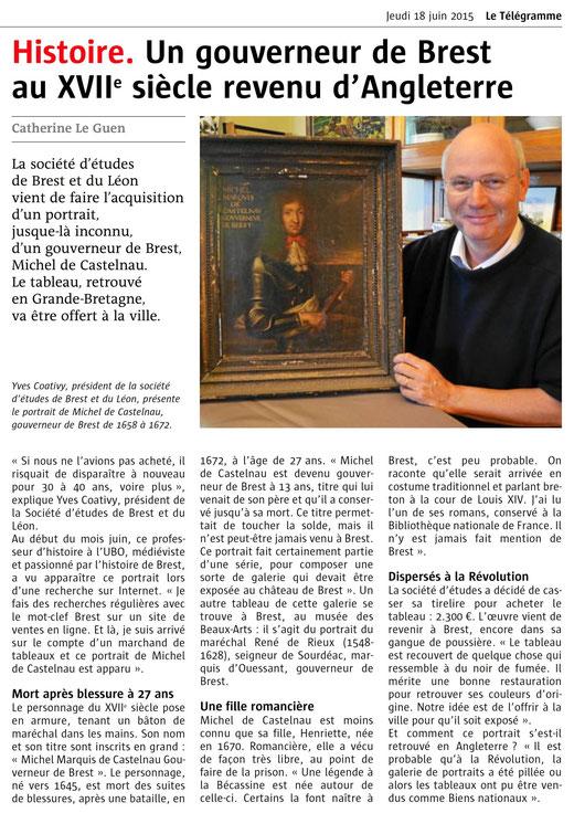 Le Télégramme, 18 juin 2015