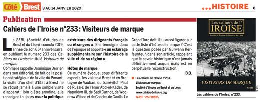 Côté Brest, du 8 au 14 janvier 2020