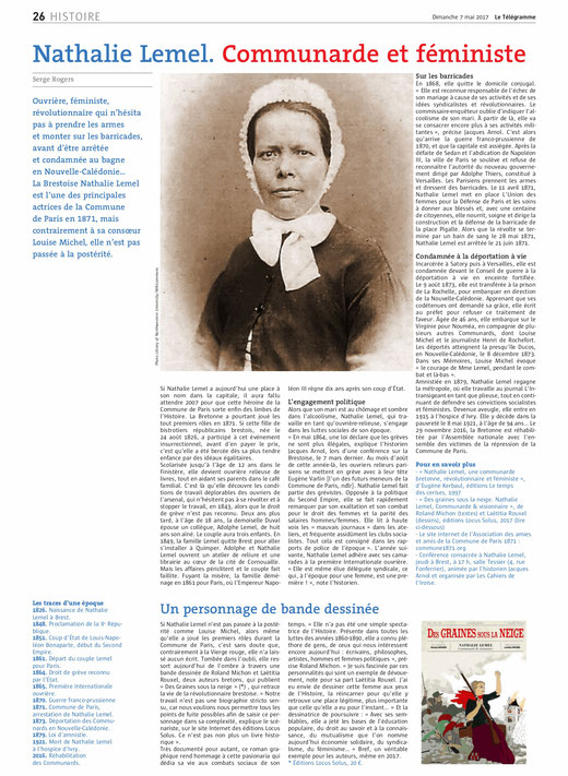 Le Télégramme, 7 mai 2017