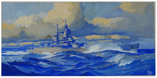"Fernan Louis, ""Le Richelieu"", octobre 1941 / collection Guéguéniat-Capitaine"