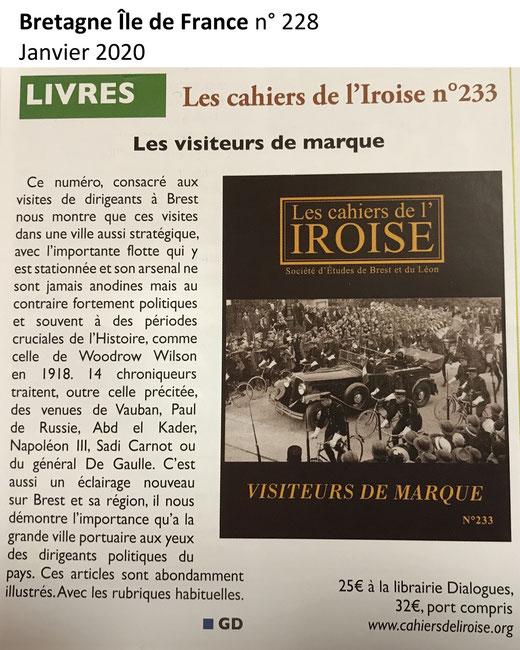 Bretagne Île de France n° 228, janvier 2020