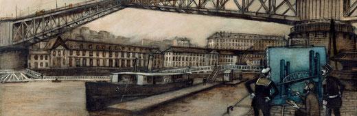 """""""D'une époque à l'autre"""", création originale de Briac pour """"Les Cahiers de l'Iroise""""  © Briac 2019 / collection Brieg Haslé-Le Gall"""
