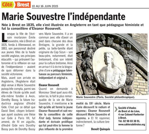 Côté Brest, du 10 au 16 juin 2015