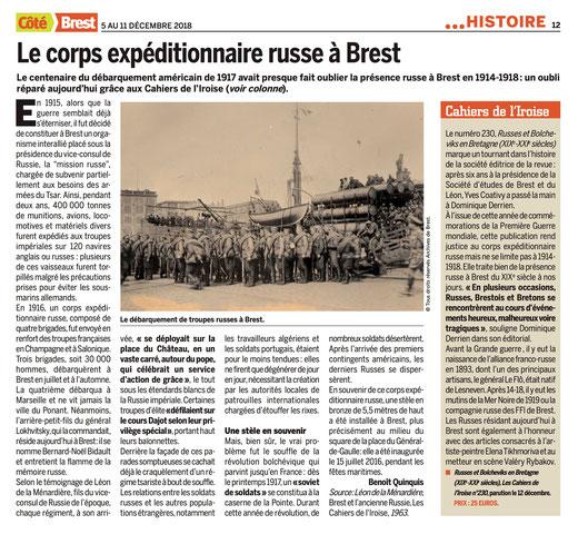 Côté Brest, du 5 au 11 décembre 2018