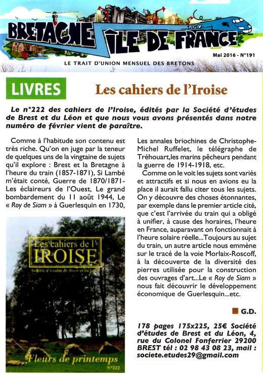 Bretagne - Île de France n° 191, mai 2016