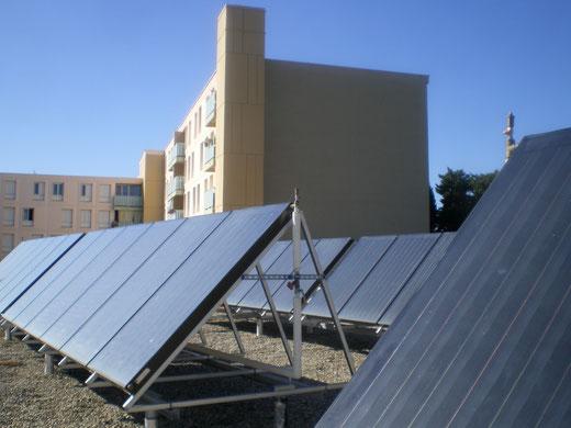 Installation solaire thermique collective - Pierrelatte, logements DAH