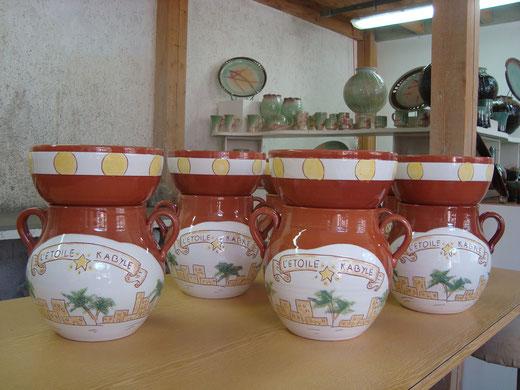 Commande de pots à couscous pour L' ETOILE KABYLE à Mennecy