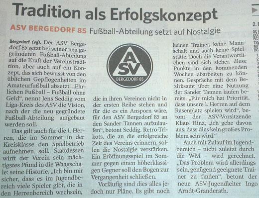Bergedorfer Zeitung vom 06.03.2014