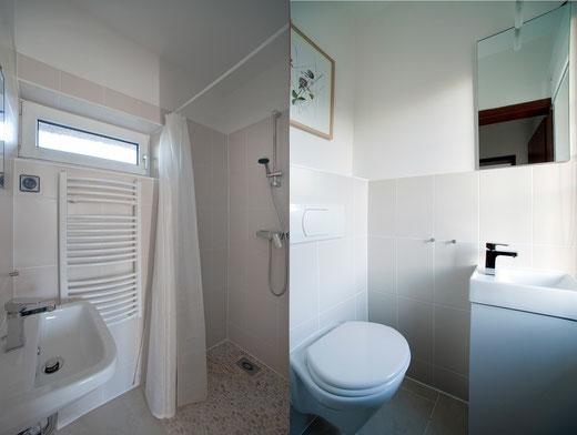 Duschbad und seperates WC
