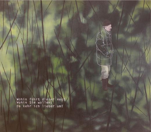 Wanderer, Öl auf Leinwand, 140x160cm, 2013