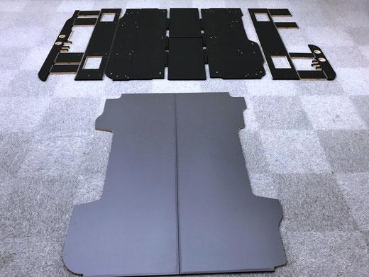 ▲組み立て家具のような設計になっています。(写真に写っている床パネル無しでもご購入可)