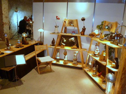 ML Upcycling Licht, Ausstellungsstand auf der Kekuka
