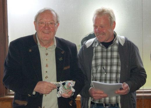 Ehrenmitglied Jürgen Zink mit 1 Vorsitzenden Dieter Kemmerzell