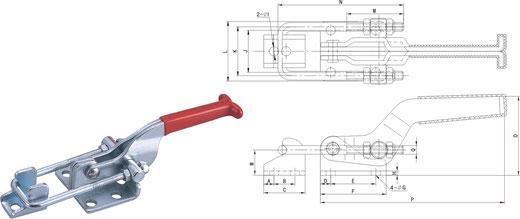 Verschlussspanner-Bügelspanner horizontal CH-40323, CH-431, CH-40341