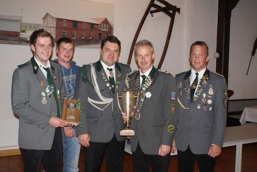 Siegermannschaft SG-Pokal Herren vom Schützenverein Düdenbüttel