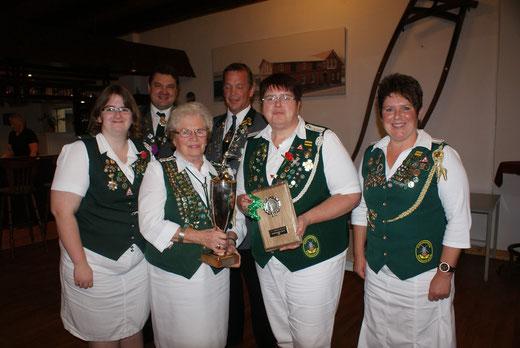 Siegermannschaft SG-Pokal Damen vom Schützenverein Neuland