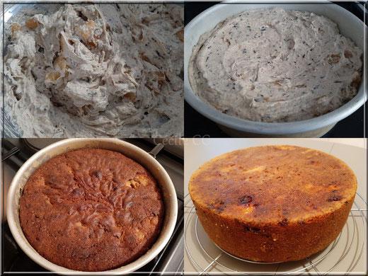étapes réalisation gâteau