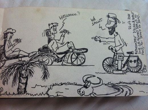 Carnet de voyage de Bernard un cyclo suisse super sympa rencontré sur la route!