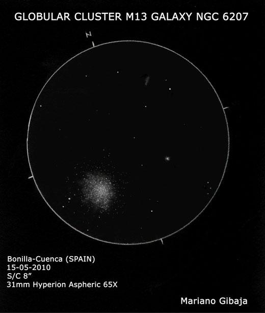 Cụm sao mở M52 và Cụm sao cầu M13 nhìn qua KTV