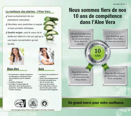 LR Health and Beauty Systems 10 ans d'aloe vera en 2012