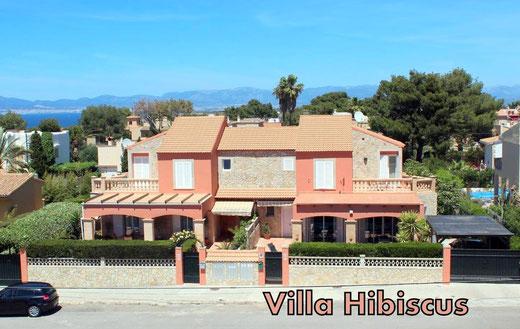 Ferienhaus in Bahia Grande, Mallorca, Villa Hibiscus, rechts im Bild