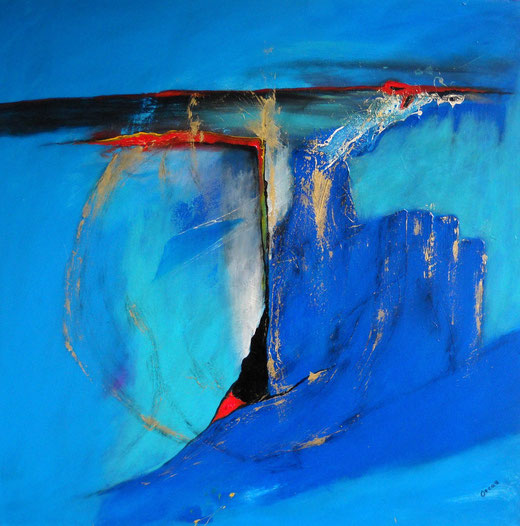 """""""Feelings of blue"""" Oscar Hernandez-Stewart."""