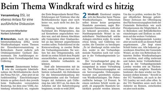 Rhein-Lahn-Zeitung v. 04.11.2014
