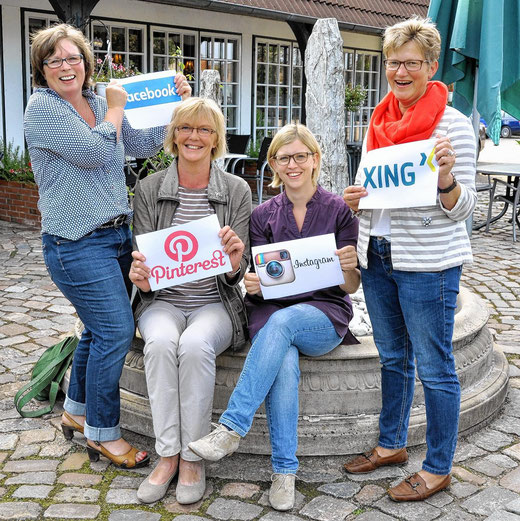 v.l.: Andrea Gosch-Petersen, Magret Albrecht, Jutta Zeisset, Anja Greggersen