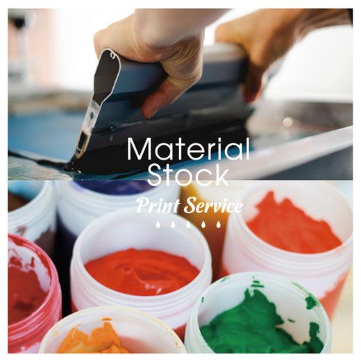 Material Stock Print Service / シルクスクリーン プリント / 倉敷 / 岡山