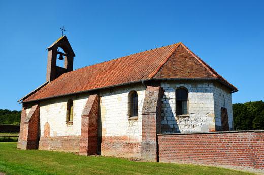 Grivesnes: chapelle au hameau de Septoutre
