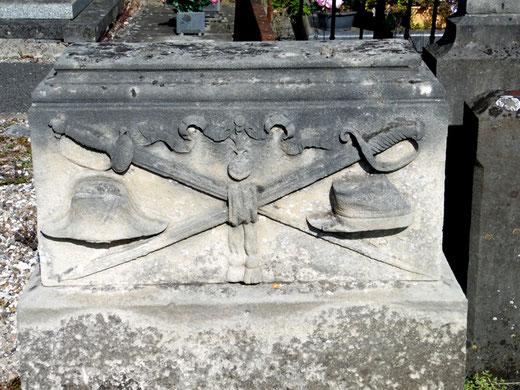 Tombe d'un soldat anonyme au cimetière de Camon: Photo: Rémy Godbert