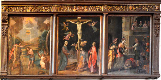 Triptyque dans l'église Saint-Martin de Saint-Valery-sur-Somme
